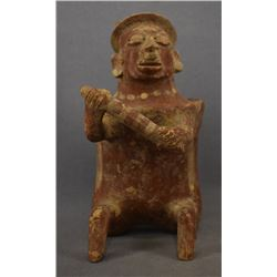 PRE-COLUMBIAN NAYARIT POTTERY WARRIOR FIGURE