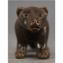 SANTA CLARA INDIAN POTTERY MOUNTAIN LION ( JANE BACA AND STARR TAFOYA )