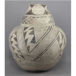 ANASAZI INDIAN DOUBLE LOBE POTTERY OLLA