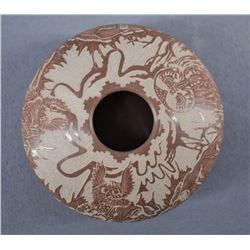 SANTA CLARA INDIAN POTTERY JAR (PAUL NARANJO)