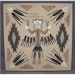 NAVAJO INDIAN SAND PAINTING (YAZZIE)