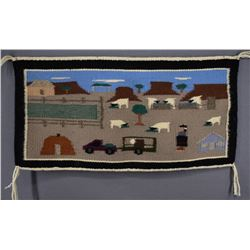 NAVAJO INDIAN PICTORIAL TEXTILE (ROSE DOBEY)