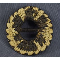 PAPAGO INDIAN BASKETRY BUCKLE