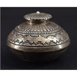NAVAJO INDIAN SILVER CONTAINER (GARY REEVES)