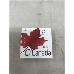 2013 The Colourized Maple Leaf $10. Proof. .9999 pure silver. In case and box of issue.