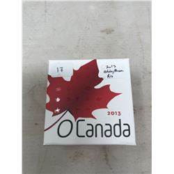 2013 Canadian Holiday Season $10. Proof. .9999 pure silver. In case and box of issue.