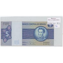 Brazil. Bank of Brazil 1979 5 Cruzeiros. Don Pedro I. P-192d. Unc.