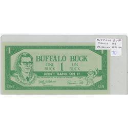 Regina Exhibition Buffalo Days Buffalo Buck Scrip. Signed by Pemmican Pete. Unc.
