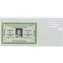 Jack Sauchenko 1983 $1 Scrip. This scrip is from the Edmonton author of several Trade Dollar handboo