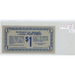 A & A Records & Tapes 1985 $1 Scrip. EF.