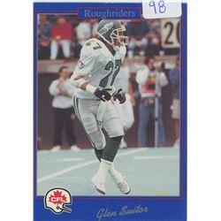 Glen Suitor, S, Saskatchewan Roughriders. CFL Football card. 1991 Jogo. Gem Unc.