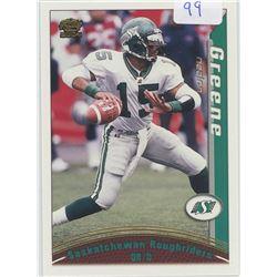 Nealon Green, QB, Saskatchewan Roughriders. CFL Football card. 2004 Pacific Trading Cards. Gem Unc.