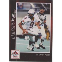 Damon Allen, QB, BC Lions. CFL Football card. 2012 Extreme Sports. Gem Unc.