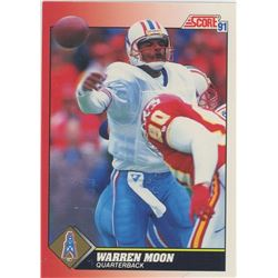 Warren Moon, QB, Houston Oilers. NFL Football card. 1991 Score. Gem Unc.
