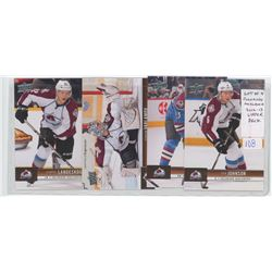 Lot of 4 Colorado Avalanche, NHL Hockey cards including Gabriel Landeskog, Semyon Varlamov, Milan He