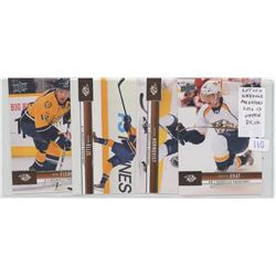 Lot of 4 Nashville Preditors, NHL Hockey cards including Mike Fisher, Ryan Ellis, Patric Hornqvist &