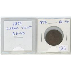 1896 Canadian Victorian Large Cent. EF-40.