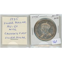 1935 Canadian Silver Dollar. Canada's first circulating silver dollar is also Canada's first Commemo