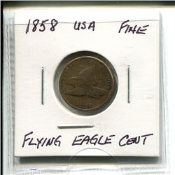 1858 USA Flying Eagle Cent