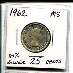1962 Twenty Five Cents - 80% Silver
