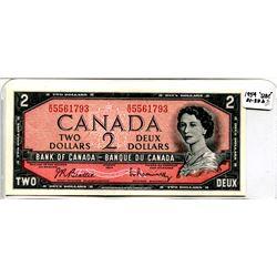 1954 High Grade Two Dollar Bill