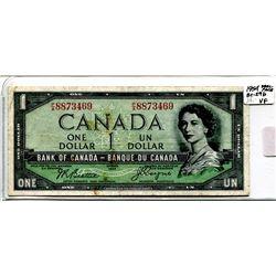 """1954 """"Devil Face"""" One Dollar Bill"""