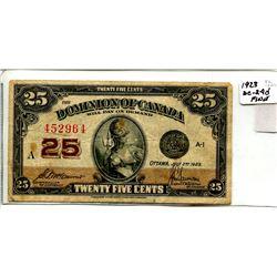 1923 Twenty Five Cent Note