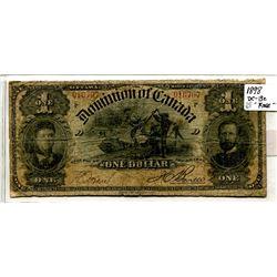1898 Large One Dollar Bill