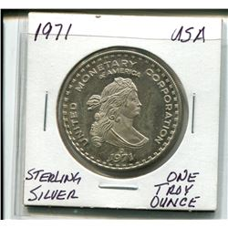 1971 One Troy Ounce Sterling Silver Coin