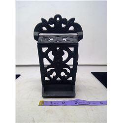 Cast Iron Match Box Holder - Excellent Condition