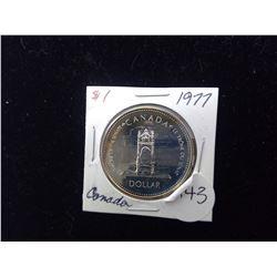 Canada 1977 Silver Dollar