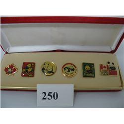 PANDA PINS - BOXED SET - WINNIPEG ASSINIBOINE PARK ZOO
