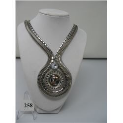 COSTUME JEWELRY - NECKLACE - Wide Double strand - 20 inch