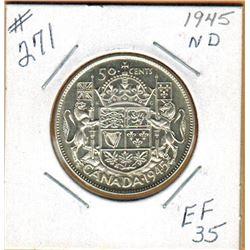 1945  50 CENT PIECE