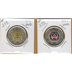 2020 HAIDA GRIZZLY BEAR - Coloured and Non Coloured - $2.00 Coins - Uncirculated