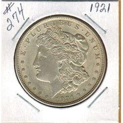 1921     UNITED STATES MORGAN SILVER DOLLAR