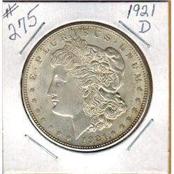 1921D  UNITED STATES MORGAN SILVER DOLLAR