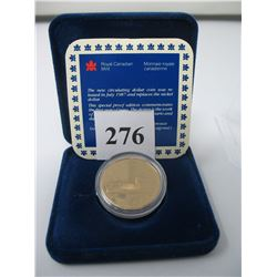 1987 SPECIAL PROOF LOON DOLLAR in CASE