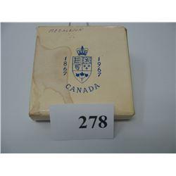 1867-1967 CANADA CENTENNIAL SILVER MEDALLION (As Issued)