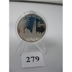 2005 COOK ISLANDS TWIN TOWERS / FREDOM TOWER - $1.00 DENOMINATION