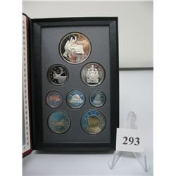 1997 PRESTIGE DOUBLE DOLLAR SET (5,10,25,50 cent coins & $2 Coin are Sterling Silver)