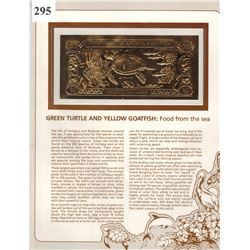 GOLD BANK NOTE - ANTIGUA & BARBUDA - GREEN TURTLE & YELLOW GOATFISH - 30 DOLLARS - LEGAL TENDER