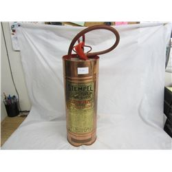 Vintage Stemple Copper Fire Extinguisher Empty 24 inches tall