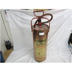 Vintage Stemple Copper Fire Extinguisher 24 inches tall empty