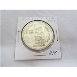 Canadian Silver Dollar 1958