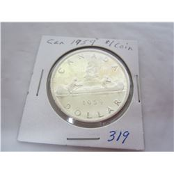 Canadian Silver Dollar 1959