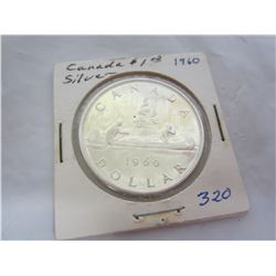 Canadian Silver Dollar 1960