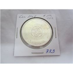 Canadian Silver Dollar 1964