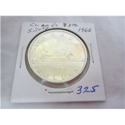 Canadian Silver Dollar 1966
