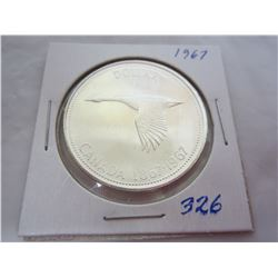 Canadian Silver Dollar 1967